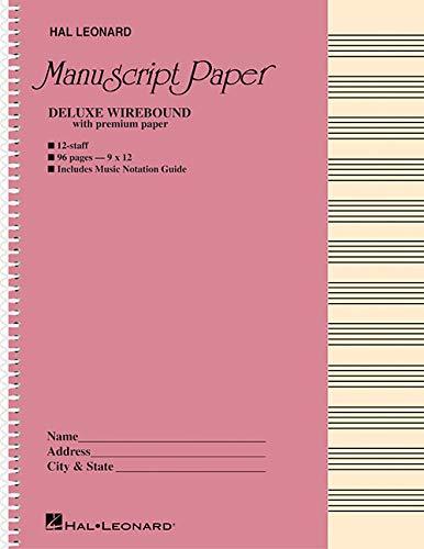 9780793553938: Deluxe Wirebound Premium Manuscript Paper (Pink Cover)