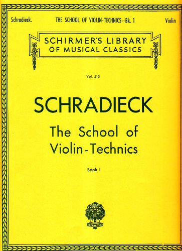 9780793554331: School of Violin Technics - Book 1