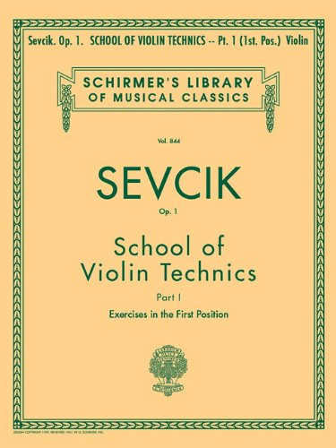 9780793554355: School of Violin Technics, Op. 1 - Book 1: Violin Method Book 1, Exercises in First Position
