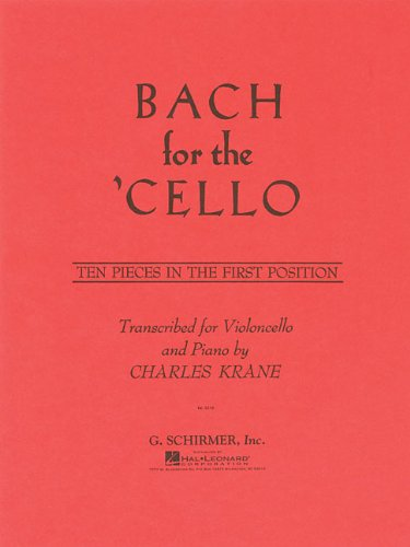9780793554386: Bach for the Cello: Ten Pieces in the First Position