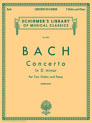 9780793554423: Concerto in D Minor for Two Violins and Piano (Schirmer's Library of Musical Classics Vol. 899)