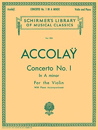 9780793554454: Concerto No. 1 in A Minor: Violin with Piano Accompaniment (Schirmer's Library of Musical Classics)