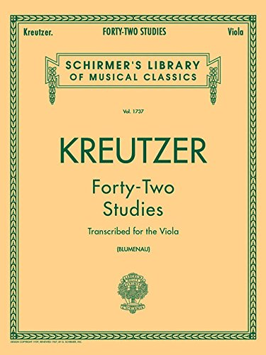 9780793554539: Kreutzer: Forty-Two Studies (Schirmer's Library of Musical Classics, Volume 1737)