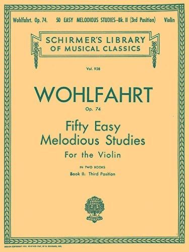 9780793554560: 50 Easy Melodious Studies, Op. 74 - Book 2: Violin Method