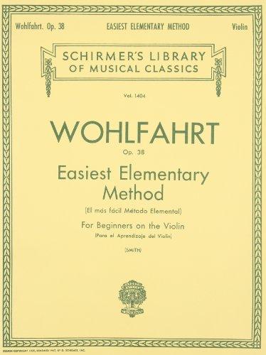 9780793554607: Easiest Elementary Method for Beginners, Op. 38: Violin Method