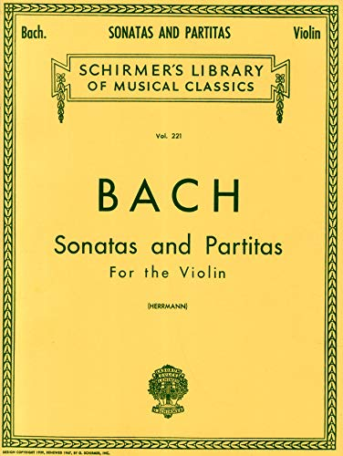 9780793554621: J.S. Bach: Sonatas and Partitas for the Violin (Schirmer's Library of Musical Classics)