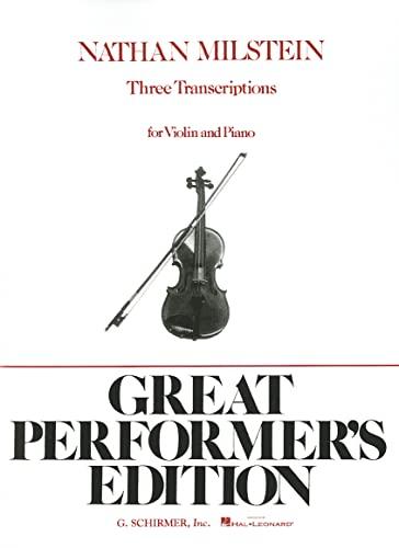 9780793554638: 3 Transcriptions: Violin and Piano