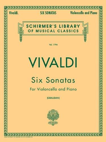 9780793554645: 6 Sonatas: For Violoncello and  Piano