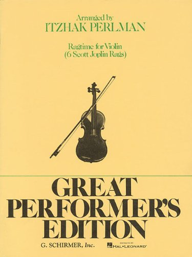 9780793554676: Ragtime for Violin (Great Performer's Edition)