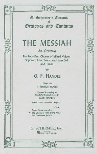 9780793555017: Messiah (Oratorio, 1741) - Choral Part Satb