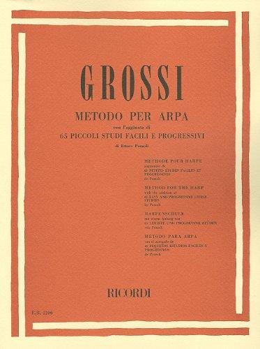 9780793555475: Grossi: Metodo Per Arpa: 65 Piccoli Studi Facili E Progressivi