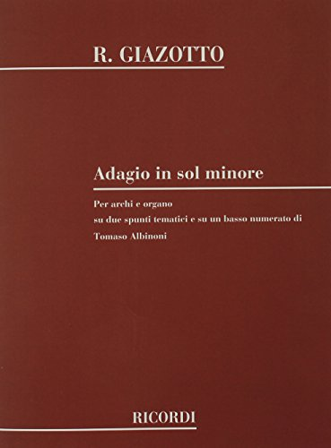 9780793555482: ADAGIO IN G MINOR ON A THEME OF ALBINONI FOR STRINGS AND ORGAN SCORE