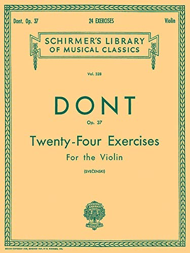 9780793556786: 24 Exercises, Op 37: Violin Method (Schirmer's Library of Musical Classics)
