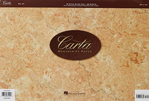 9780793557899: No. 27: Carta Manuscript Paper