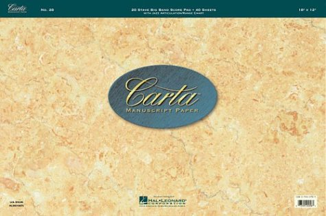 9780793557912: Carta Manuscript Paper No. 24 - Professional