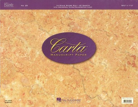 9780793557929: Carta Manuscript Paper No. 25 - Professional
