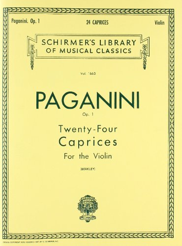 9780793559305: 24 Caprices, Op. 1: Violin Solo (Schirmer's Library of Musical Classics)