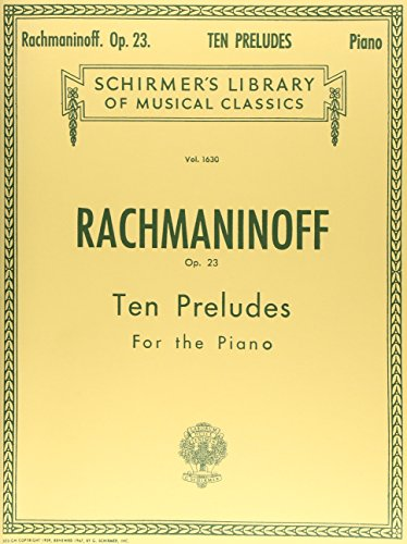 9780793564989: Sergei Rachmaninov: Ten Preludes for Piano Op.23 Piano
