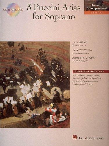 9780793568901: 3 Puccini Arias for Soprano: Orchestra Accompaniment Series
