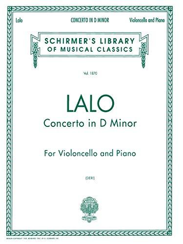 CONCERTO D MINOR CELLO/PNO: GS LIBRARY 5