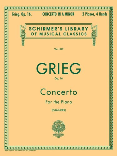 9780793572243: Concerto in A Minor, Op. 16: National Federation of Music Clubs 2014-2016 Selection Piano Duet (Schirmer's Library of Musical Classics)