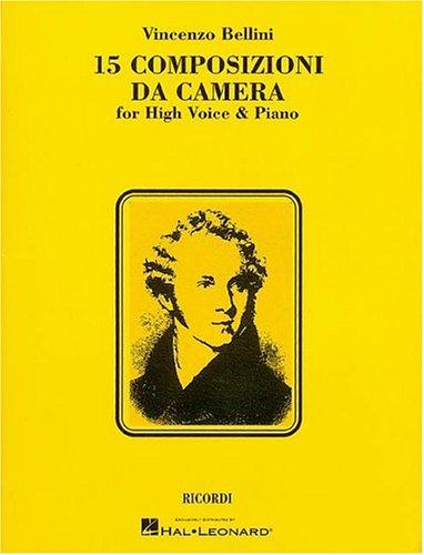 9780793572977: 15 Composizioni Da Camera: High Voice