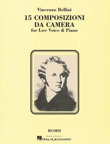 9780793572984: 15 Composizioni Da Camera: Low Voice