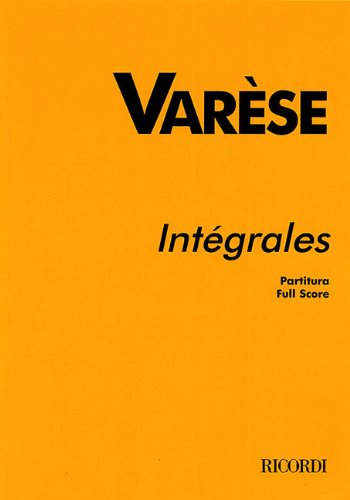 9780793573455: INTEGRALES STUDY SCORE FOR 11 WIND INST AND PERC REVISED 1980 CHOU WEN-CHUNG