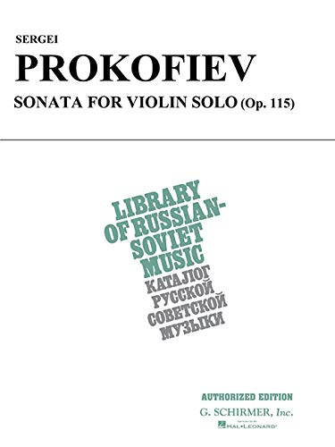 9780793574216: Sergei Prokofiev Sonata for Violin Solo: (Op. 115) (Library of Russian-Soviet Music)