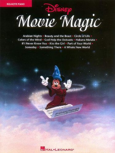 Disney Movie Magic Big Note Piano: Hal Leonard