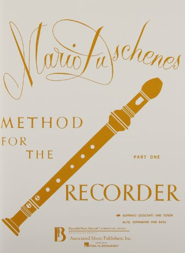 9780793578559: Method for the Recorder: Soprano and Tenor, Part 1
