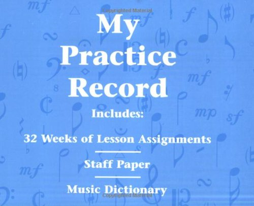 9780793584741: My Practice Record: Hal Leonard Student Piano Library
