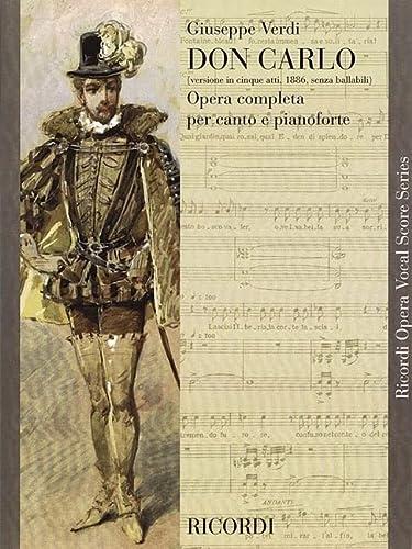 9780793584819: Don Carlo: Opera In Cinque Atti (Ricordi Opera Vocal Score)