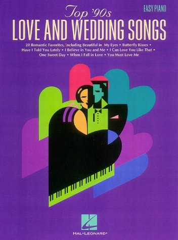 9780793585595: Top 90s Love and Wedding Songs For Easy Piano