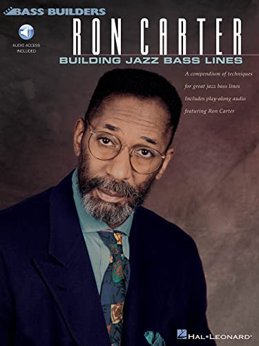 9780793586349: Ron Carter: Building Jazz Bass Lines: A compendium of techniques for great jazz bass lines including play-along CD featuring Ron Carter (Bass Builders)
