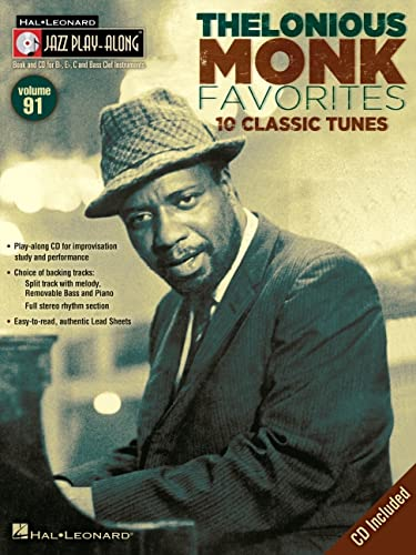 9780793587612: Jazz Play-Along Volume 91: Thelonious Monk Favourites (Book & CD)
