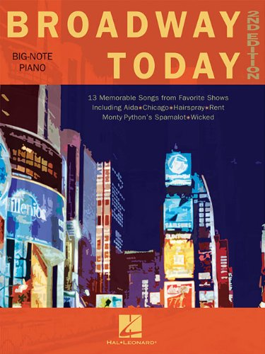 9780793593279: Broadway Today 2nd Edition Big-Note Piano