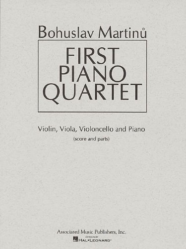 9780793598311: First Piano Quartet: Score and Parts