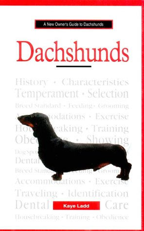 9780793827596: New Owner Guide to Dachshunds (JG Dog)
