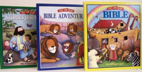 9780794404314: Lift The Flap Bible / Lift The Flap Bible Adventures / Lift The Flap Stories Jesus Told - 3 Board Book Set