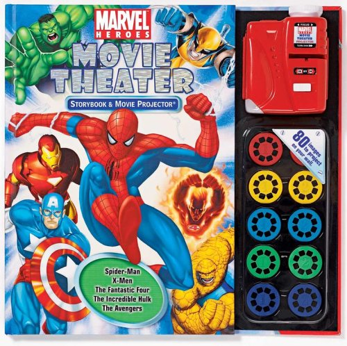 9780794411350: Marvel Heroes Movie Theater Storybook [With Movie Projector and 10 Movie Disks] (Movie Theater Storybooks)