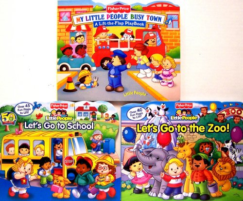 9780794413972: Little People Lift the Flap 3 Pack (My Little People Town, Let's Go To School, Let's Go To the Zoo)