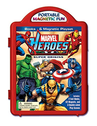 9780794419394: Marvel Heroes Super Origins Books & Magnetic Playset