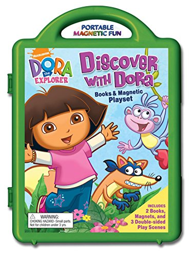 9780794420031: Discover with Dora Books & Magnetic Playset [With Book(s) and 3 Double-Sided Play Scenes and Magnet(s)] (Dora the Explorer)