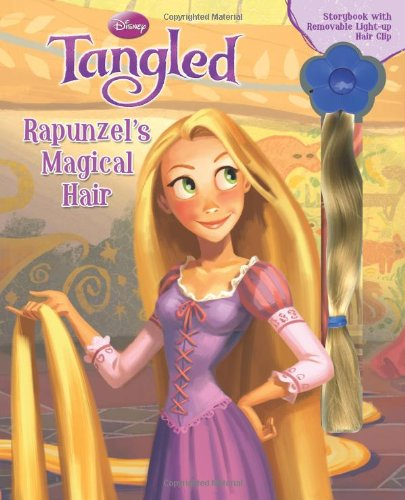 9780794420277: Disney Tangled: Rapunzel's Magical Hair Storybook with Light Up Removable Hair