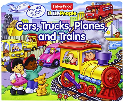 9780794421809: Fisher-Price Little People Lift-the-Flap Cars, Trucks, Planes and Trains