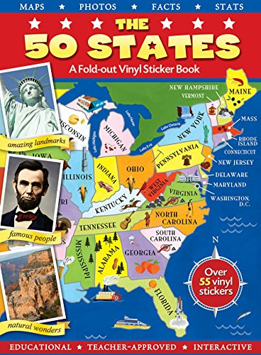 The 50 States (Panorama Sticker Storybook)