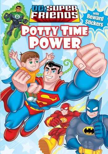 Dc Super Friends Potty Power (interactive Paperback Flap Book)