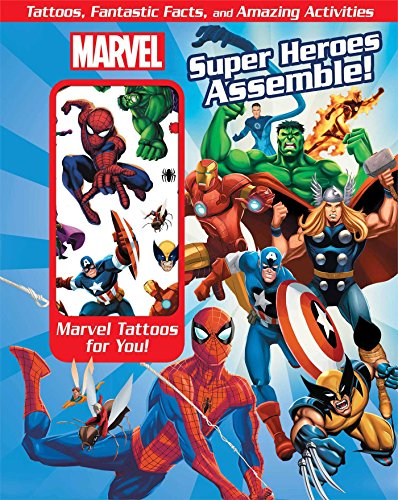 9780794430085: Marvel Super Heroes Assemble!: Tattoos, Fantastic Facts, and Amazing Activites