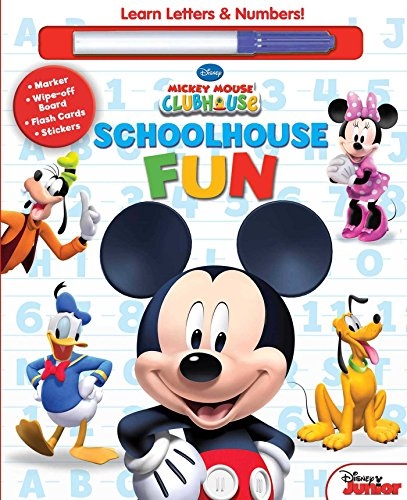 Disney Mickey Mouse Clubhouse: Schoolhouse Fun: A, B, CS and 1, 2, 3s: Disney Mickey Mouse ...